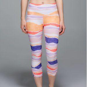Lululemon True Self Crop Bleacher Stripe Leggings